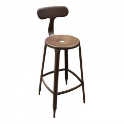 Clip Metal Bar Chair with Backrest